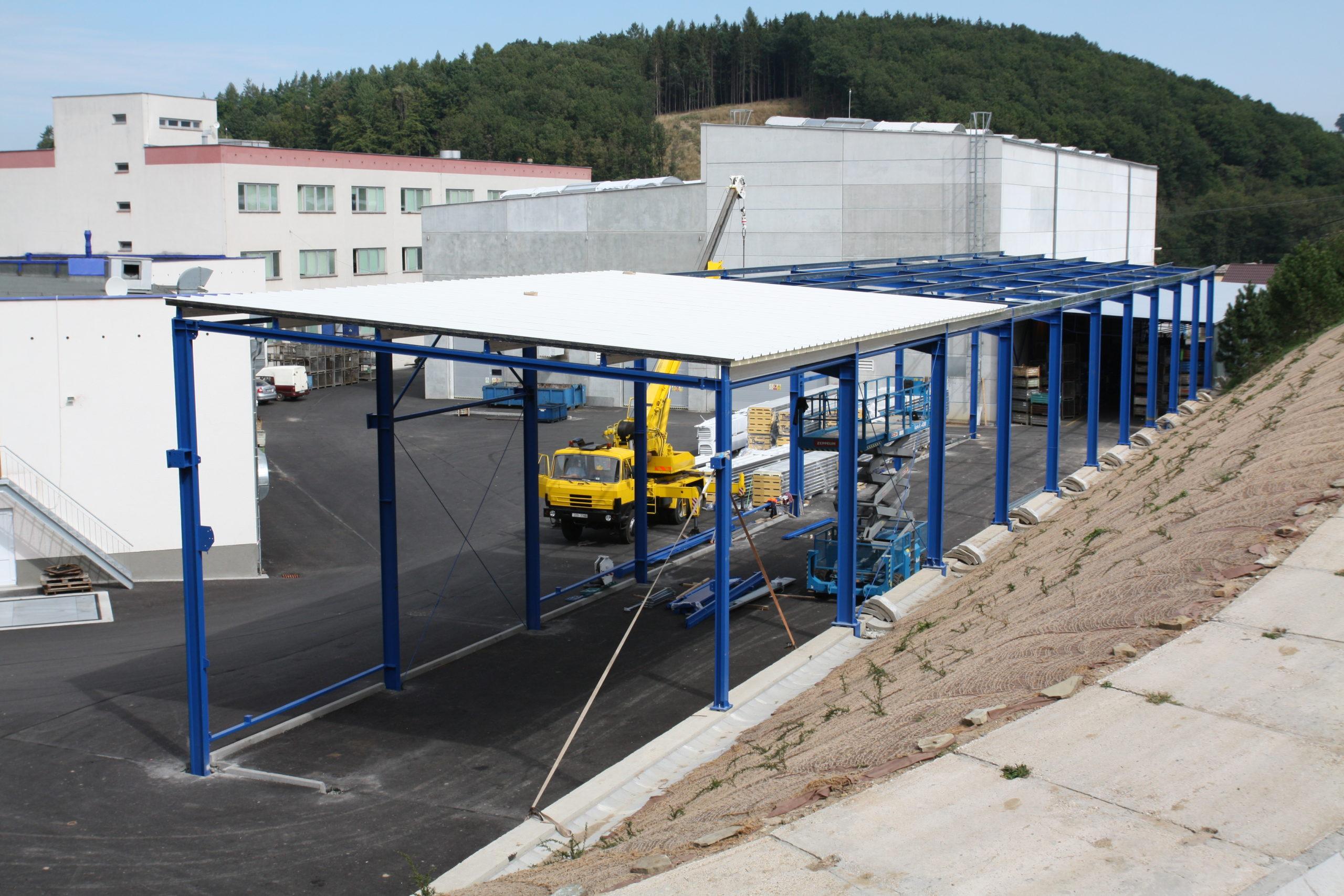 Výstavba nového skladu pro materiál a hotové výrobky